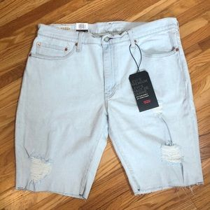 NWT Levi's 511 Slim Sz 36 Cut-Off Denim Shorts